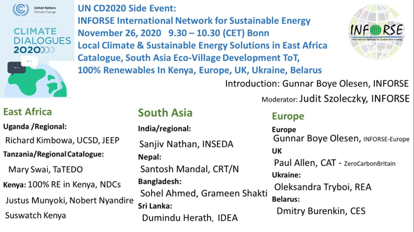 UNCD2020 INFORSE side Event Program