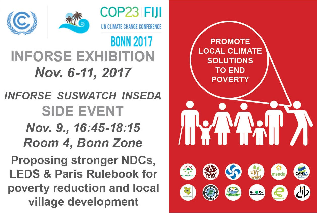 INFORSE at COP 23 Side Event Nov 9 2017 Bonn