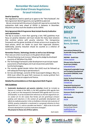 Policy Brief May 1 2018 EVD -South Asia