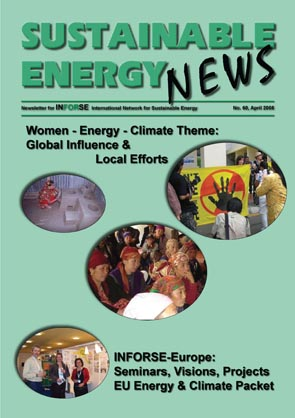 Sustainable Energy News front page SEN 60
