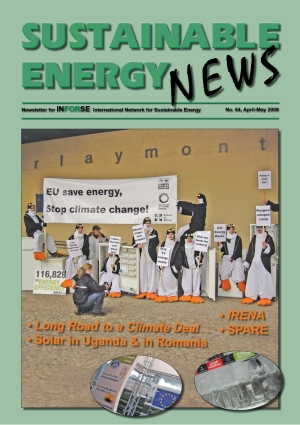 Front page of Sustainable Energy News 64