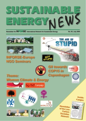Ssustainable Energy News, issue 65, July 2009