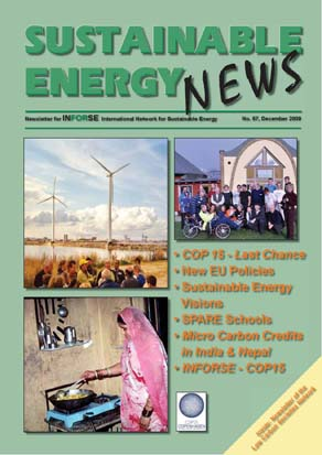 Front page of Sustainable Energy News 67