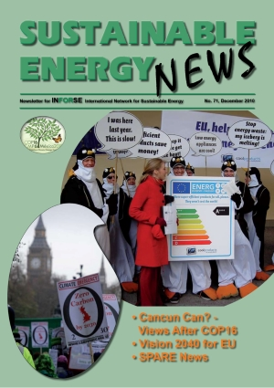 Front page SEN 71 Sustainable Energy News